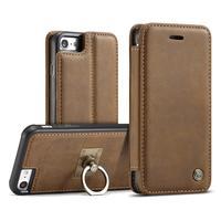 Caseme取り外し可能な2 in1のカバーケースのためのiphone 6 s 7プラス高級本革フリップケースのためのiphone 7プラス5.5インチリングホル