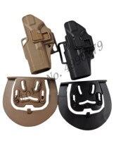 Tactical CQC Compact Handgun Belt Holster Quick Draw Left Hand Gun Holster w/ Paddle Waist Belt For GLock 17 18 19 23 32