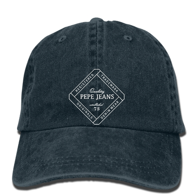507bb68be20db hip hop Baseball caps Nwt Jeans Men s Black Pepe Printed cap Men s ...