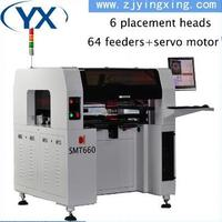 Automatic board Led Manufacturing Machine Three stage track Visual display LED SMT Machines 64 feeders SMT Equipment