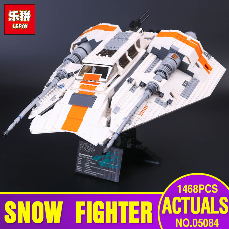 Lepin 05084 1468Pcs New Star Series Wars The Snowspeeder Set Children Educational Building Blocks Bricks Toys Model with 10129 new lepin 16009 1151pcs queen anne s revenge pirates of the caribbean building blocks set compatible legoed with 4195 children