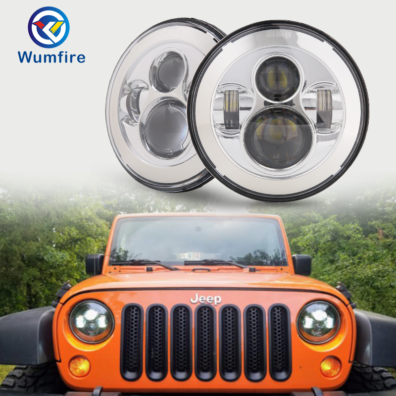 chrome Style LED Projection Headlight Kit For Jeep Applications 7 Led Wrangler led headlights for Jeep Wrangler Lightchrome Style LED Projection Headlight Kit For Jeep Applications 7 Led Wrangler led headlights for Jeep Wrangler Light