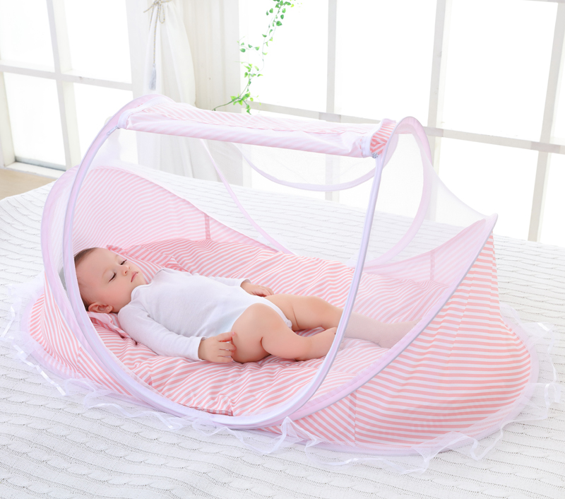 0-3Y Baby Mosquito Net Newborn Babies Bed Cot Ger Type Mosquito Netting for Children Folding Portable Tent Kid Room Decor Canopy