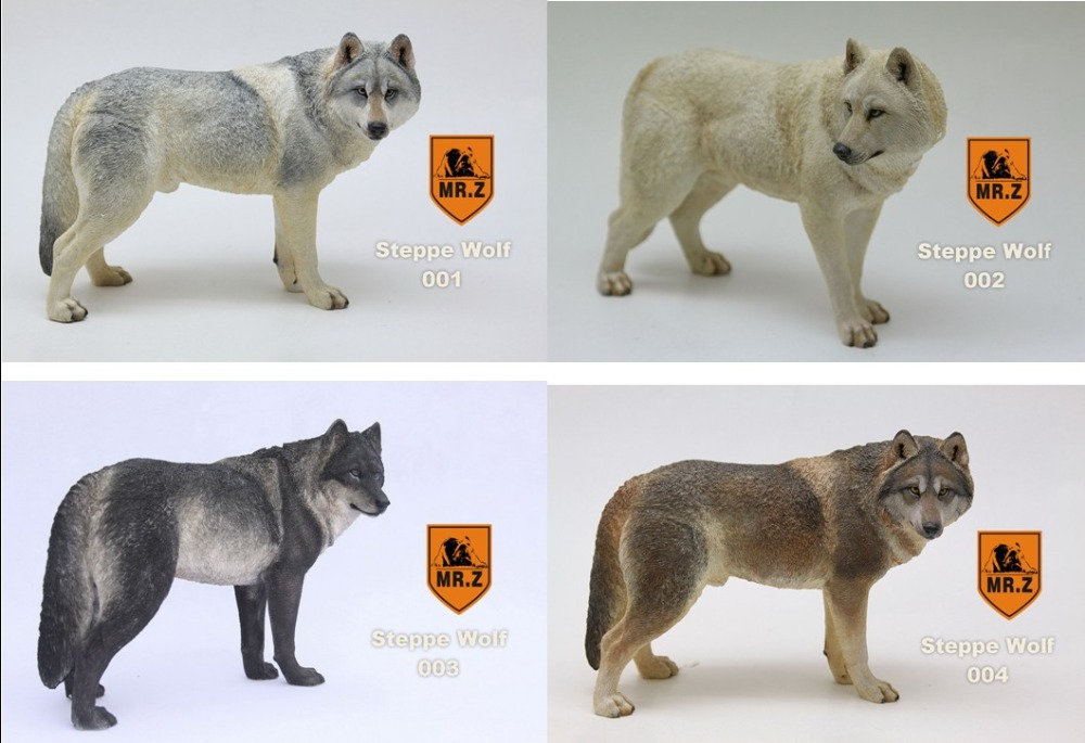 seventh star 100% Mr.Z Simulation Animal Seventh Bomb 1/6 Prairie Wolf 001-004 Four Color for 12 Action Figure