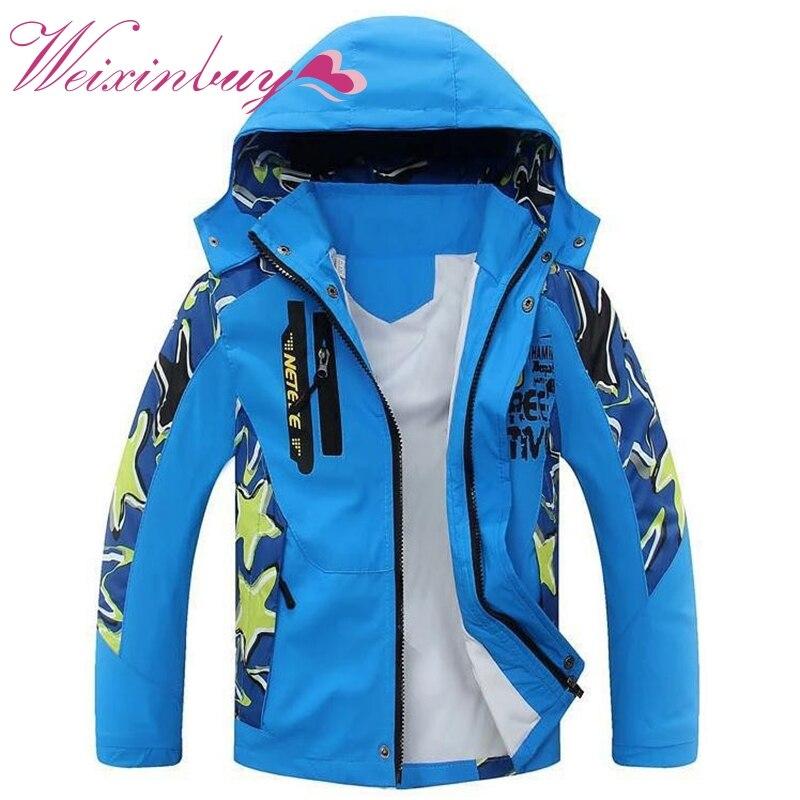 3929bfdaa9 2017 Autumn Winter Children Outerwear Warm Coat Kids Clothes Double-deck  Waterproof Windproof Thicken Boys Girls Jackets