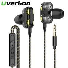 9D Double Dynamic Hi-Fi Earphone 3.5mm Wired Headphone Sport Headset