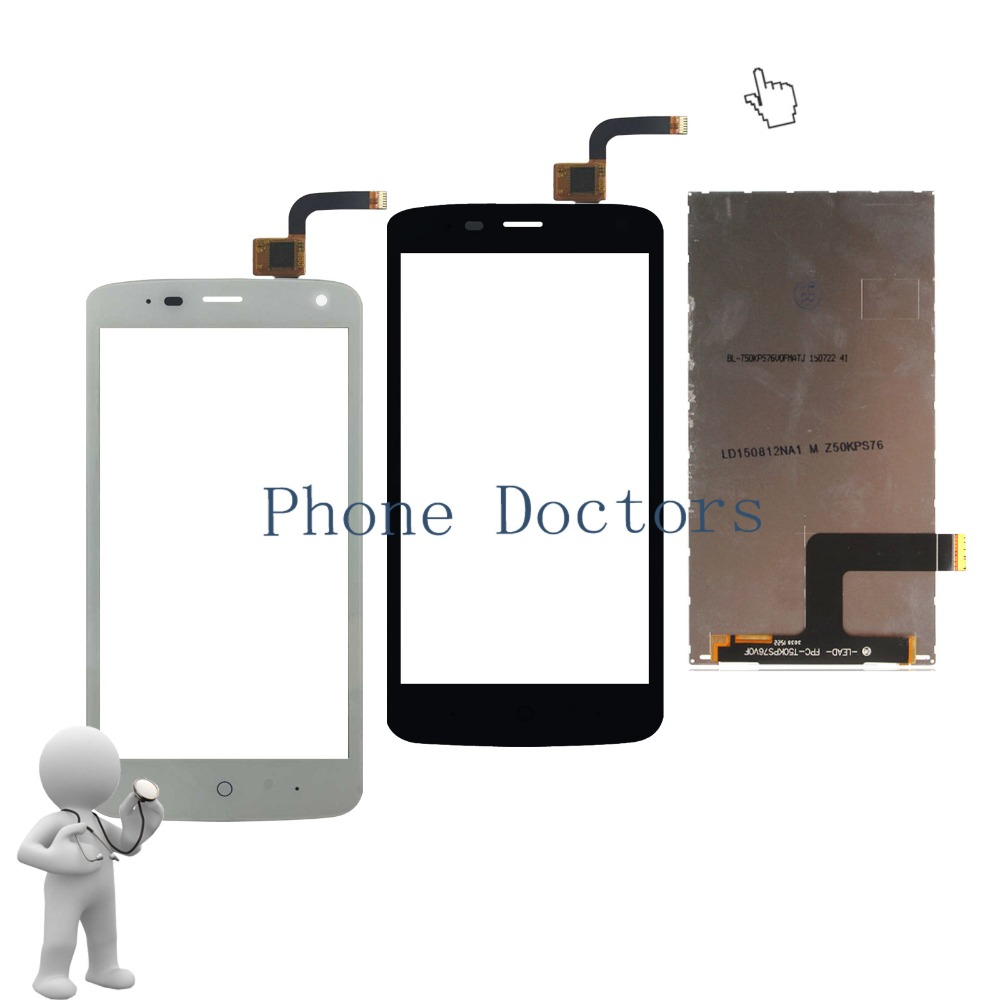 5.0'' LCD DIsplay / Touch Screen Digitizer Glass For ZTE Blade L2 plus / Blade L370 / Blade C370 ; New ;100% Tested