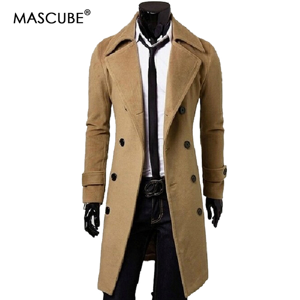MASCUBE 2018 New Men Winter Jacket Coat Long Sleeve Parkas Down Collar Casual Style Personalized Male Double-breasted Jackets