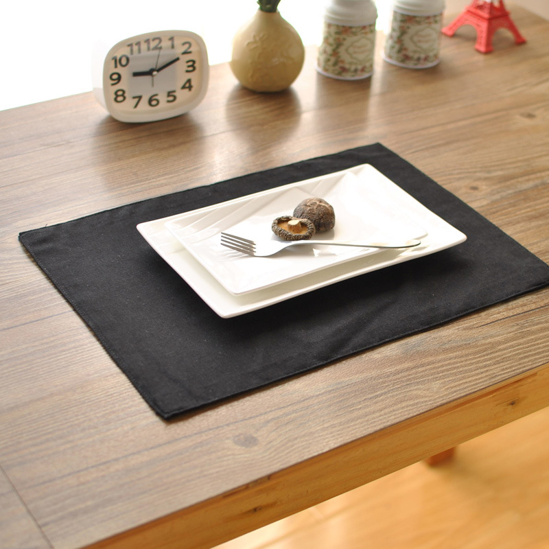 Retro Restaurant Table Placemats Black Double Insulated Western Dish Simple Coffee Table Pad For