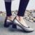 Aiweiyi calzado antideslizante mujer sexy zapatos de tacón alto de cuero genuino bomba de Zapatos de Dedo Del Pie Cuadrado de Plataforma de Las Mujeres Zapatos de Las Señoras Bombas Verde rojo