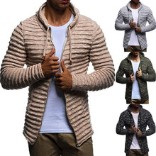 Men's Autumn Winter Solid Knit Stripe Coat Jacket Long Sleeve durable enought for your daily wearing Outwear Gift