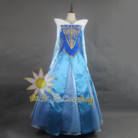 Sleeping Beauty Princess Aurora Dress Adult Women Halloween Chrismas Cosplay Costume Carnival Costumes For Girls