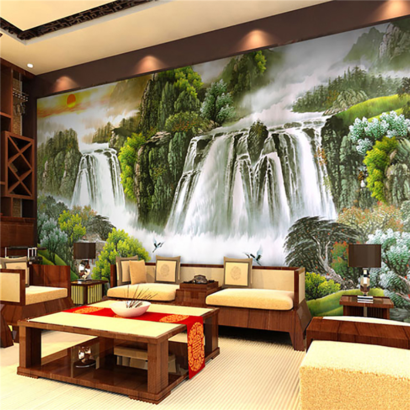 Chinese landscapes large mural wallpaper sofa backdrop mural wallpaper beautiful rivers and mountains wallpaper mural