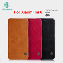 New Arrival For Xiaomi mi6 mi 6 Case NILLKIN Hight Quality Leather Case For Xiaomi mi 6 Luxury Flip Leather Cover For MI6 чехол для xiaomi mi6 nillkin qin leather case черный