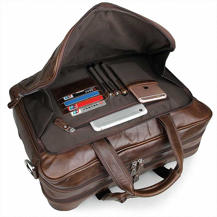 ผู้ชายคลาสสิกกระเป๋าเอกสารหนังแท้ธุรกิจสำนักงาน 17 นิ้วกระเป๋าแล็ปท็อป Lawyer กระเป๋าถือ Portfolio กระเป๋าสะพาย LI-1266