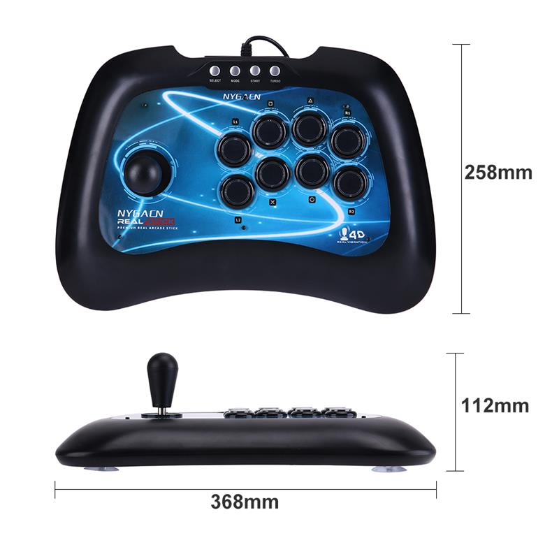 High Quality USB Fighting Stick Arcade Joystick Gamepad Controller for PS3 PC Android  USB Game Remote Controller for XBOX 360