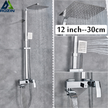Shower Faucet Waterfall-Tub Mixers Rainfall-Head Wall-Mounted Spout Bath Chrome