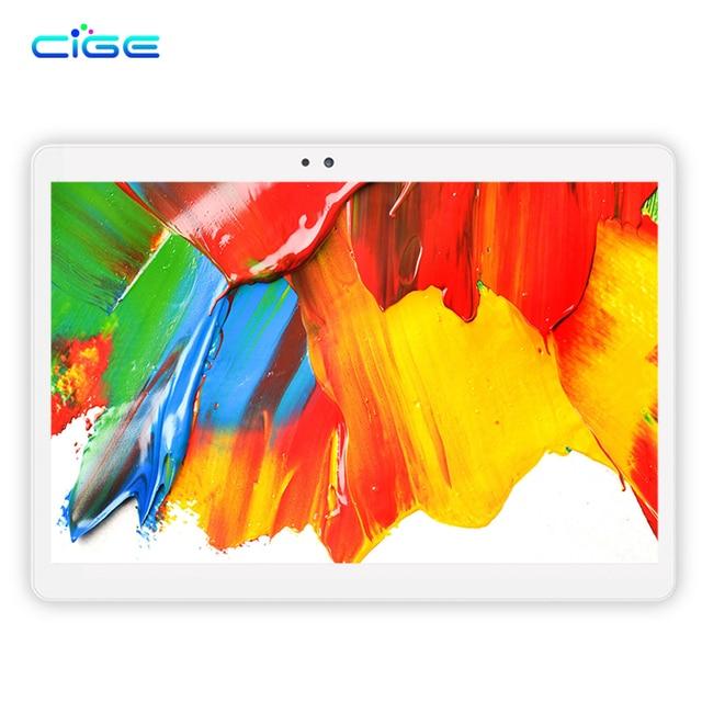 "CIGE New Android 6.0 Tablets PC Tab Pad 10.1 Inch IPS 1920x1200 Octa Core 4GB RAM 64GB ROM Dual SIM Card 4G Phone 10.1"" Phablet"
