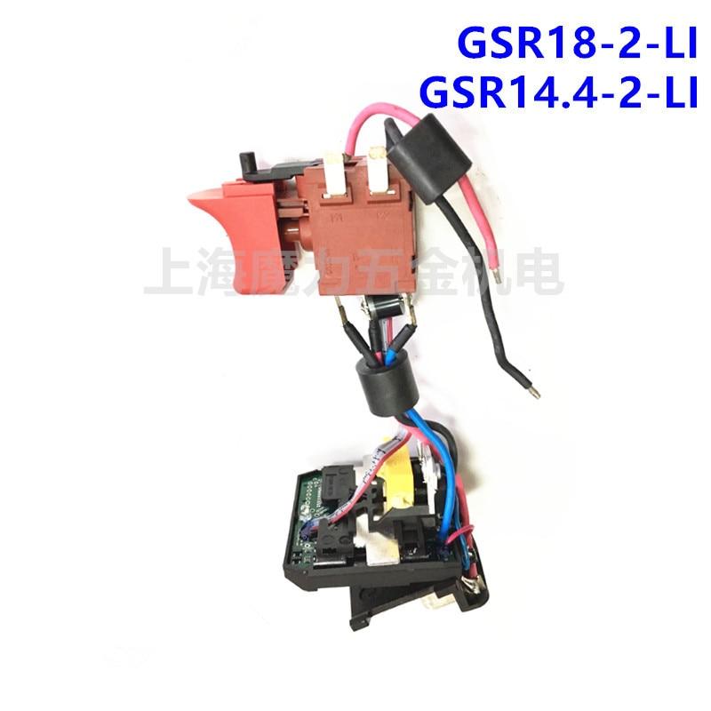 18V 14.4V Switch for BOSCH DDB180 DDBB180 GSR18-2-LI HDB180 GSB18-2-LI GSB14.4-2-LI GSR14.4-2-LI набор bosch дрель аккумуляторная gsb 18 v ec 0 601 9e9 100 адаптер gaa 18v 24