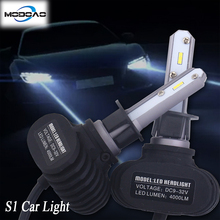 A pair of S1  Car Headlights LED Lights Head Lamps H1 H4 H7 H8/9/11 9005 9006 Vehicle Driving Light 6500K