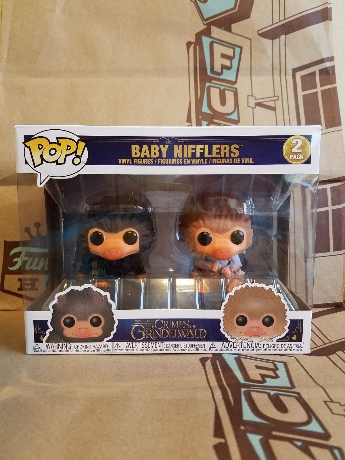 In Stock Exclusive Funko pop Fantastic Beasts 2 Harry Potter - Baby Nifflers 2 pack Vinyl Action Figures Collectible Model Toy 2017 sdcc exclusive funko pop official harry potter luna lovegood vinyl action figure collectible model toy with original box