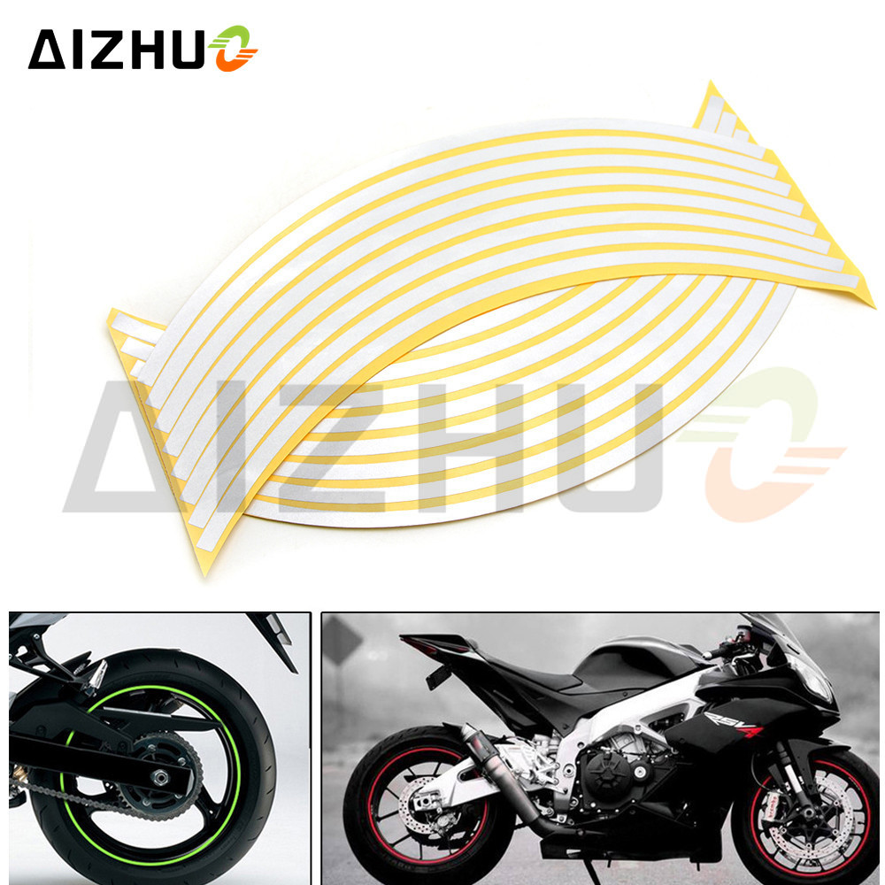 17inch/18inch wheel Strips Motorcycle Reflective Wheel Sticker for YAMAHA YZF-R25V R15 R125 TMAX530 TMAX 500 KTM 1190 Adventur