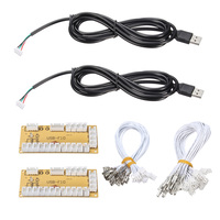 2 Players DIY Zero Delay Arcade USB Encoder PC To Joystick Replacement Parts USB Cable Encoder