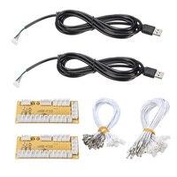 2 Players DIY Zero Delay Arcade USB Encoder PC To Joystick Replacement Parts USB Cable Encoder