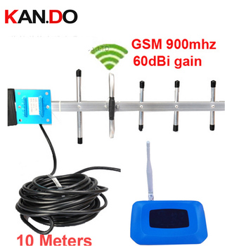 With yagi antennas & cable 55dbi GSM booster kits GSM repeater 900mhz booster mobile phone repeater gsm signal enlarger