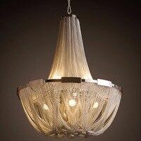 Ecolight Stream Pendant Lamp Aluminum Stream Chandeliers E12 E14 Designer Pendant Lights Silver Or Gold