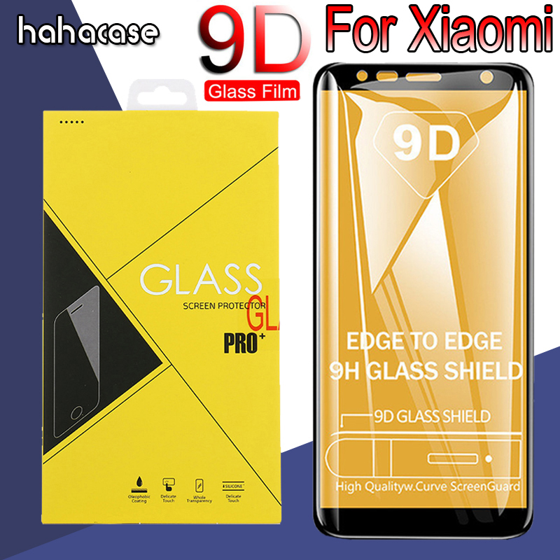 10pcs 9D Curved Edge Full Coverage Tempered Glass For Xiaomi Mi8 SE Lite Mi6 A2 A1 5S Mix 2 F1 Screen Protector With Yellow Box