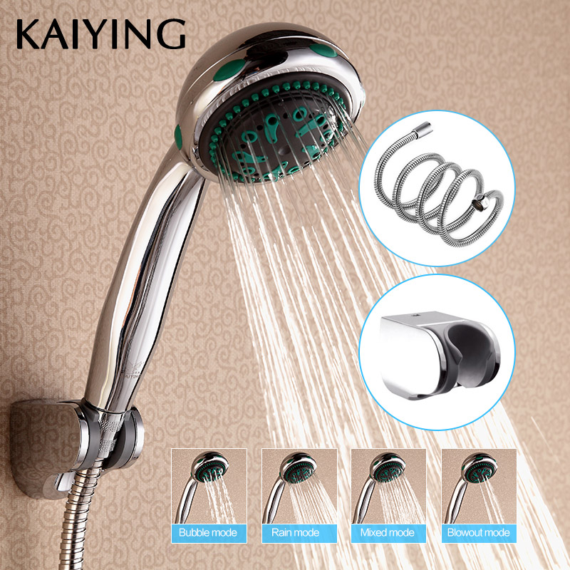 KAIYING Shower Head Bathroom Accessories 4 Function HandHeld Shower Head Water Saving ABS Chrome Round Bath Hand Shower,TH1101