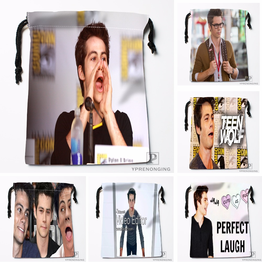 Custom Dylan OBrien Drawstring Bags Printing Travel Storage Mini Pouch Swim Hiking Toy Bag Size 18x22cm