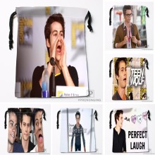 Custom Dylan OBrien Drawstring Bags Printing Travel Storage Mini Pouch Swim Hiking Toy Bag Size 18x22cm#180412-11-57