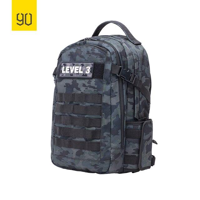 XIAOMI 90FUN Nível 3 16 Polegada Laptop Bag para Os Jogadores do Jogo de Táticas de Batalha Mochila Das Mulheres Dos Homens de Grande Capacidade 26L Bagpack