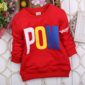 Spring Baby Boys Children Kid's Letter Round Collar Long Sleeve T-shirts Tops S1279