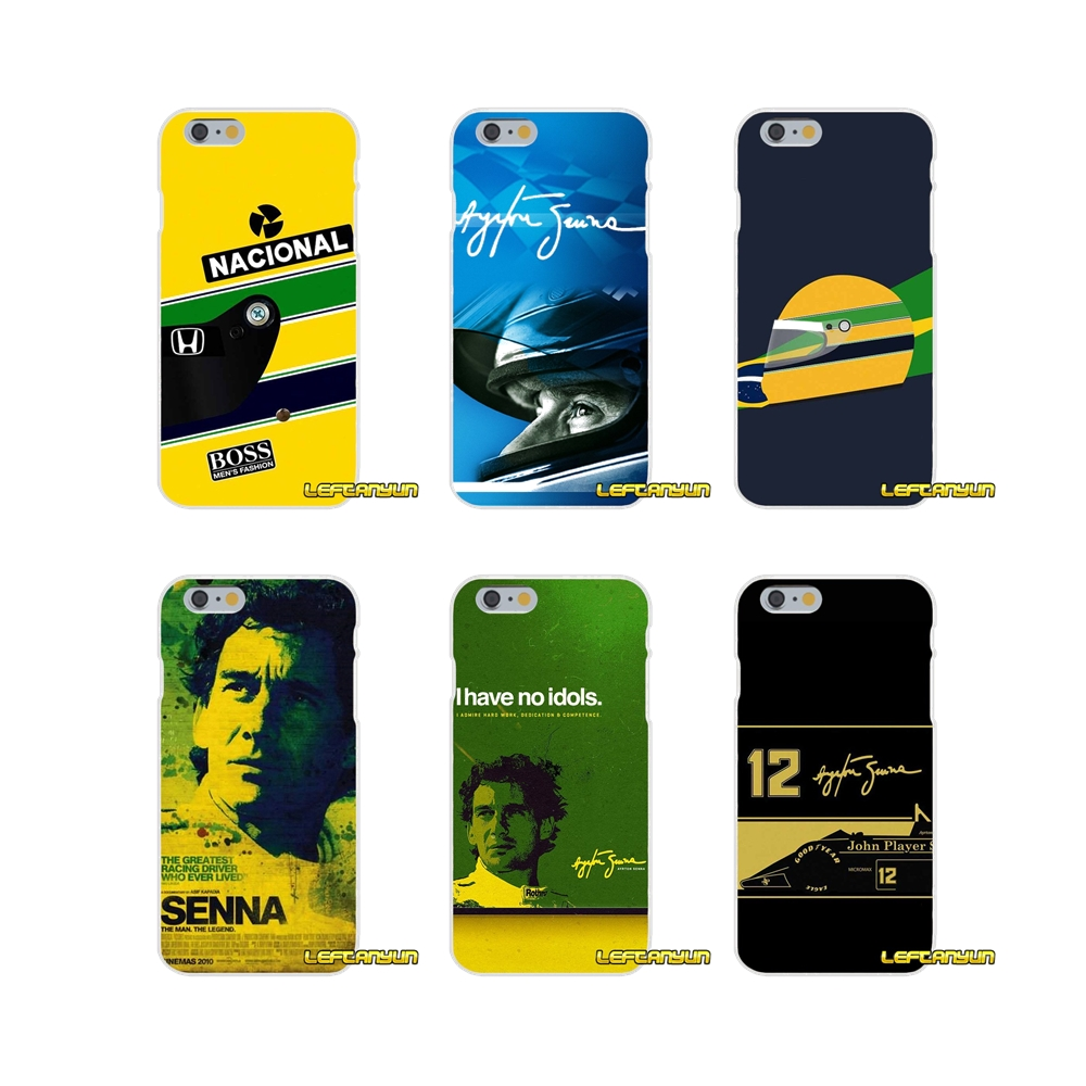 Ayrton Senna Drive Racing Star Slim Silicone phone Case For Samsung Galaxy S3 S4 S5 MINI S6 S7 edge S8 Plus Note 2 3 4 5