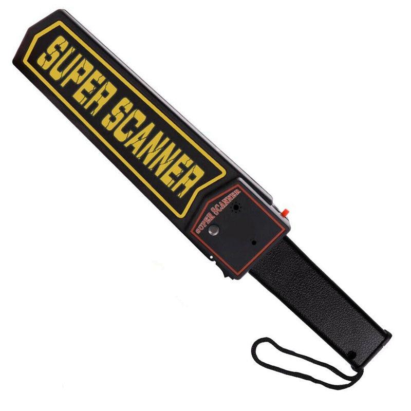 Handheld Portable Metal Detectors For Security Inspection High Sensitivity Scanner Tool With Belt Holster Black