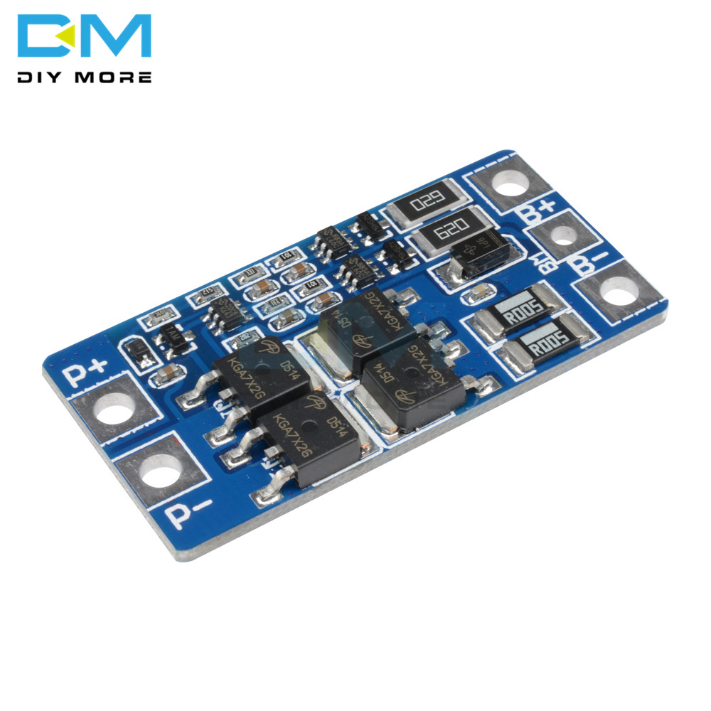 5PCS 2S 10A 8.4V 7.4V 18650 Li-ion Lipo Lithium Charger Protection Board Module BMS PCM 2 Cell Pack Balance Function Protect image