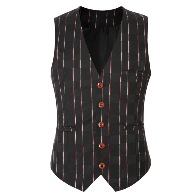 2016 Brand Sleeveless Jacket Waistcoat Men Dress Suit Vest Fashion Slim Single Breasted Bussiness Gilet Vest Male British Style