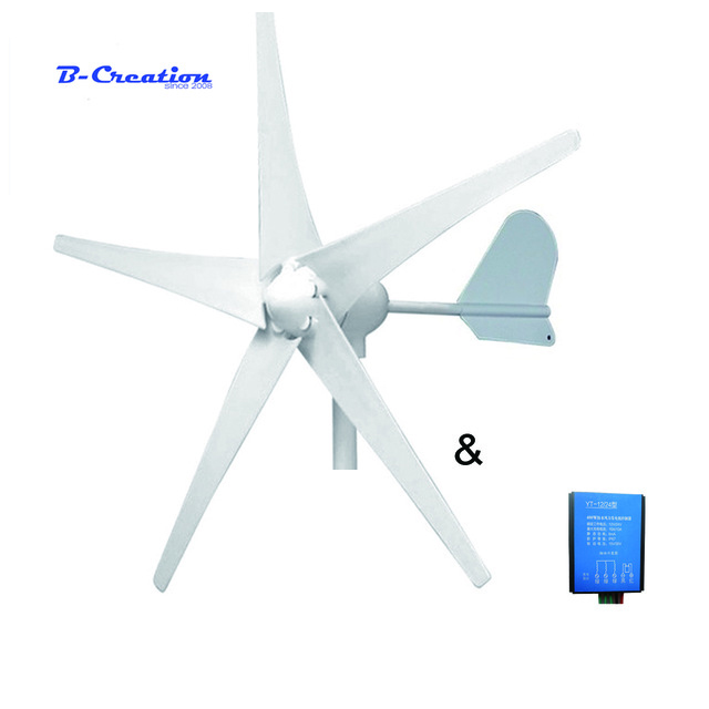 Small Windmill 500w 12v 24v 48v Permanent Magnet wind turbine Generator Clean and Renewable Energy with controller for home use free shipping ac12v 24v 400w wind turbine generator small windmill for home use ce rohs approval