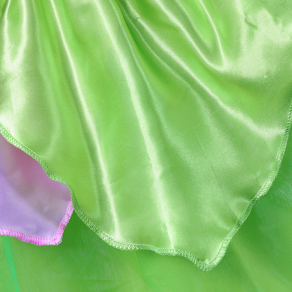 Girls TinkerBell Costume Kids Fairy Dress Up Dresses With Wings Children Summer Princess Fancy Party Short Frocks Green Outfits in Dresses from Mother Kids