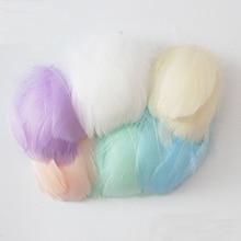Натуральные гусиные перья 8-12 см, цветные перья лебедя, шлейф для украшения дома, Рукоделие, сделай сам, украшения для ювелирных изделий, 100 шт