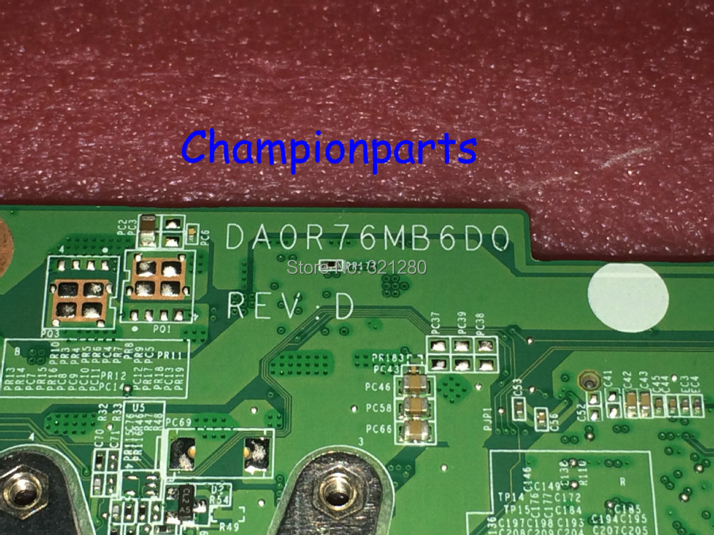 FREE SHIPPING NEW !!! 734004-501 DA0R76MB6D0 REV : D Laptop Motherboard For HP Pavilion 15-E 17-E Series Notebook PC