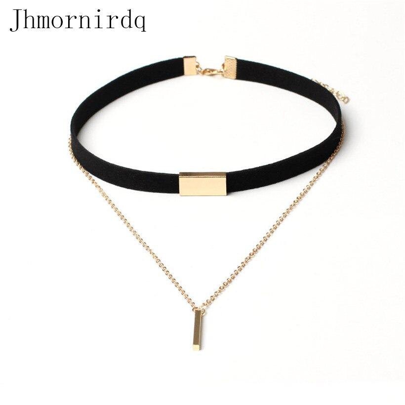 Для женщин s черный бархат колье ожерелье готический цвет оптовая много корейский цвет золотистый коричневый Бархатный чокер Jewellery Для женщ...