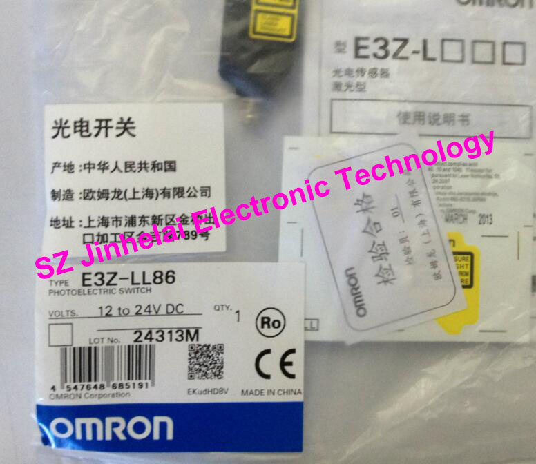 New and original E3Z-LL86, E3Z-LS86 OMRON Photoelectric Switch 12-24VDC new and original e3z ll86 e3z ls86 omron photoelectric switch 12 24vdc