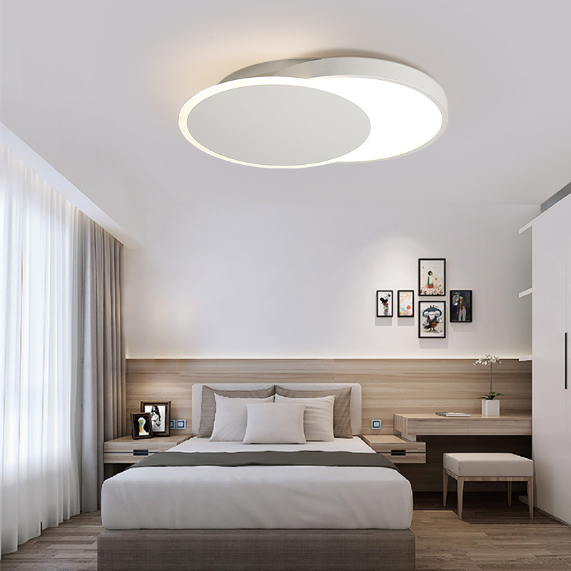 Modern Creative Bedroom LED Ceiling Lights Indoor Simple Sweet Lamp  Different Circular Style Lights 24w 34w ...