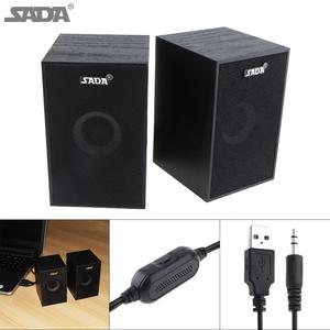 Image 1 - SADA  Portable Mini Wooden Subwoofer Computer Speaker with 3.5mm Audio Plug and USB 2.0 Interface for DVD TV Desktop PC Laptop