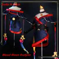 LOL Cosplay The widow maker Evelynn Cosplay Costume Blood Moon Eve cosplay costume Full Set kimono