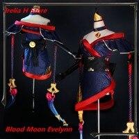 LOL Cosplay The widow maker Evelynn Cosplay Costume Blood Moon Eve cosplay costume Full Set kimono